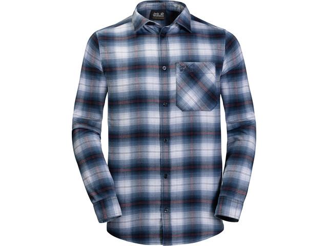 Jack Wolfskin Light Valley Langærmet T-shirt Herrer, night blue checks